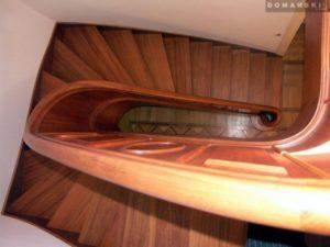 Domański schody okrągłe drewniane