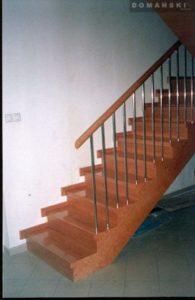 Domański drewniane schody wewnętrzne galeria