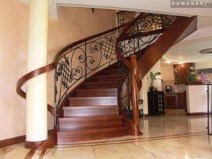 Domański schody kręcone drewniane