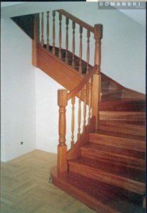 Domański schody ażurowe drewniane