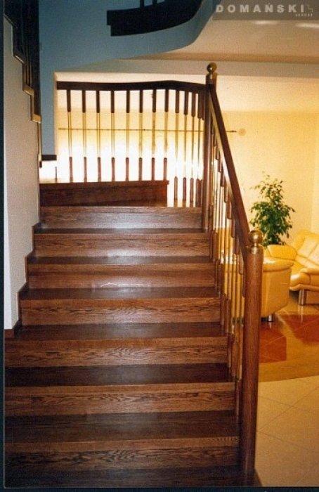 Domański proste schody drewniane