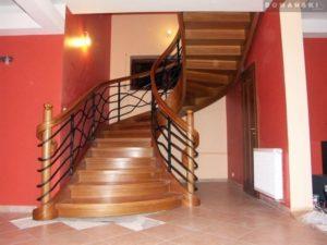 Domański schody drewniane wewnetrzne galeria