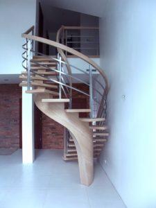 Domański eleganckie schody kręcone