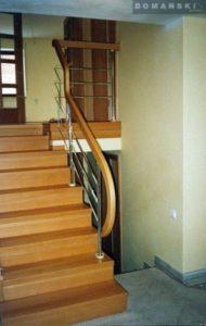 Domański schody proste drewniane