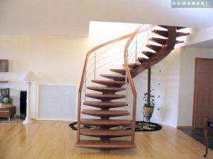 Domański schody drewniane krecone