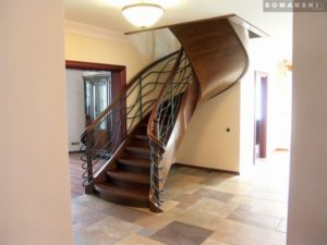 Domański schody drewniane proste