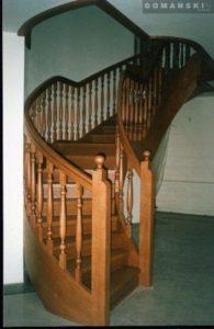Domański schody według indywidualnego projektu