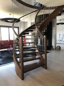 nowoczesne schody drewniane od firmy domański
