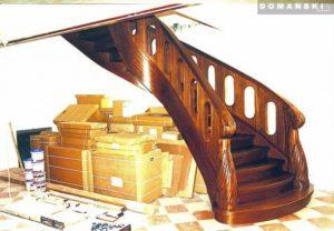 schody drewniane okrągłe Domański