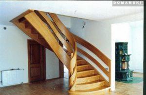schody spiralne drewniane Domański
