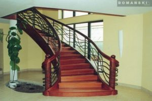 schody nowoczesne drewniane firmy Domański