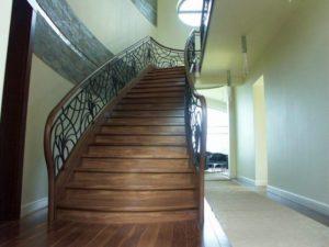 nowoczesne drewniane schody Domański