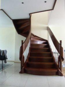 projekt schodów drewnianych Domański