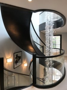 schody drewniane wewnętrzne firmy Domański